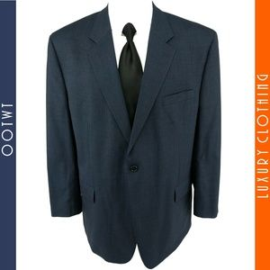 JOS A BANK 48R Blue Gray Birdseye Wool Sport Coat